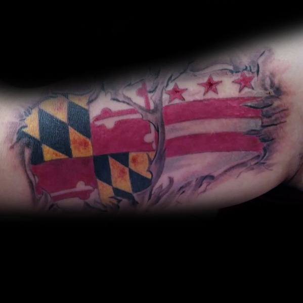 Tattoo Designs Maryland Flag
