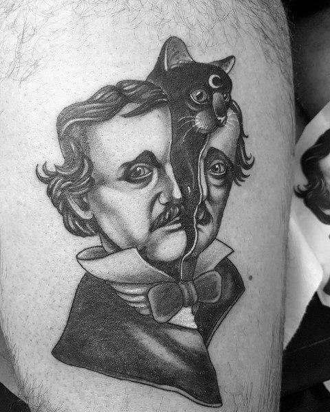 Tattoo Edgar Allan Poe Designs For Men