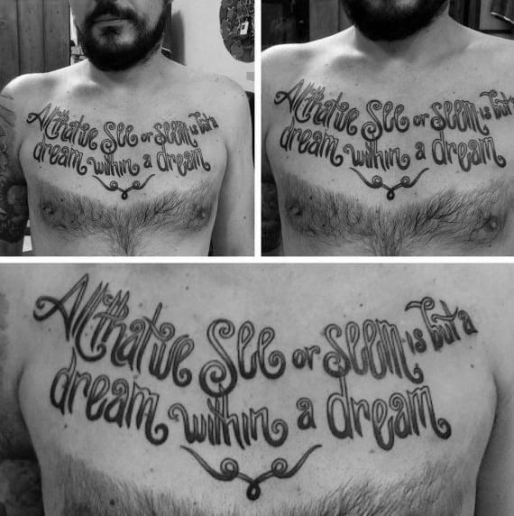 Tattoo Edgar Allan Poe Ideas For Guys