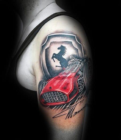 Tattoo Ferrari Ideas For Guys