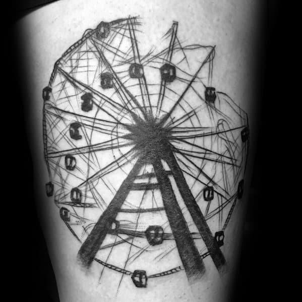Tattoo Ferris Wheel Designs For Men