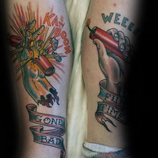 Tattoo Fireworks Designs For Men