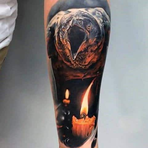 Tattoo Flames Sleeve On Men
