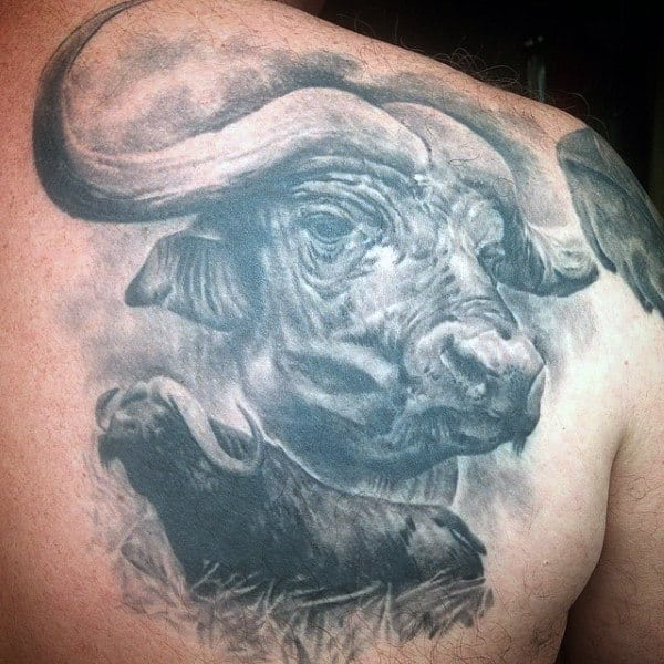 Tattoo For Guys Of Bulls