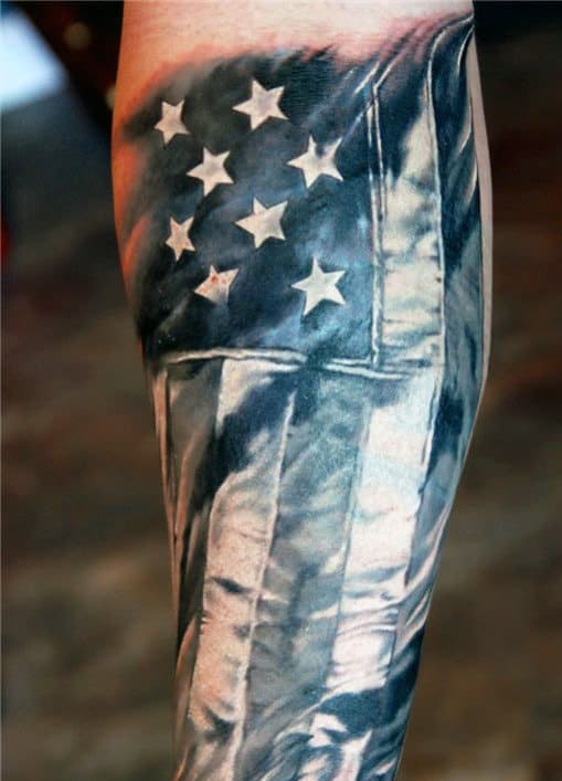 American Flag Tattoo Forearm