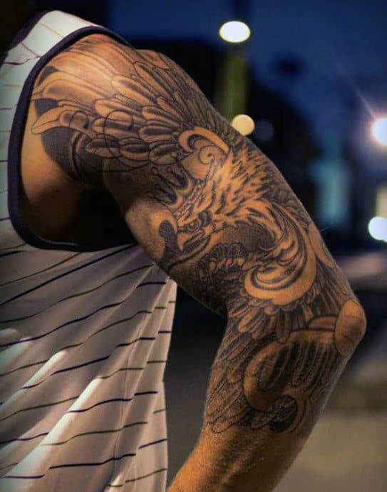 Eagle Tattoo Half Sleeve Ideas