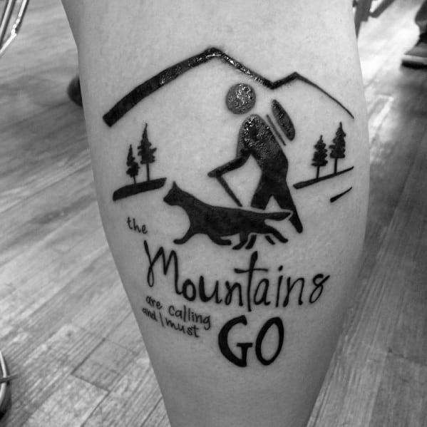 Tattoo Hiking Ideas For Guys