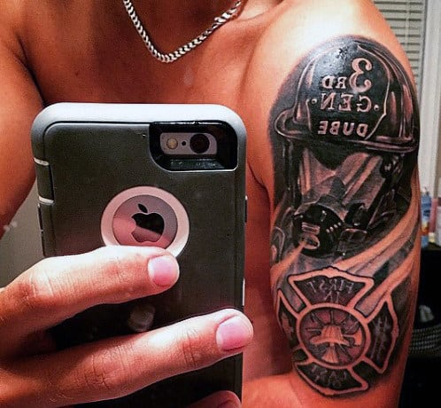 Tattoo Ideas For Male Firefighters On Arm