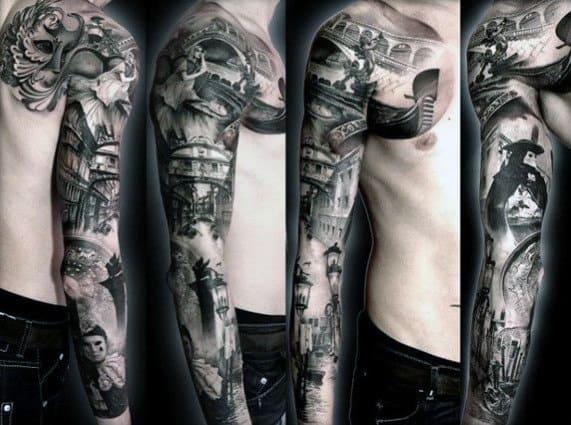 Sleeve ideas men for tattoos half