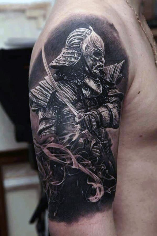 Samurai Tattoo Ideas For Men On Arm