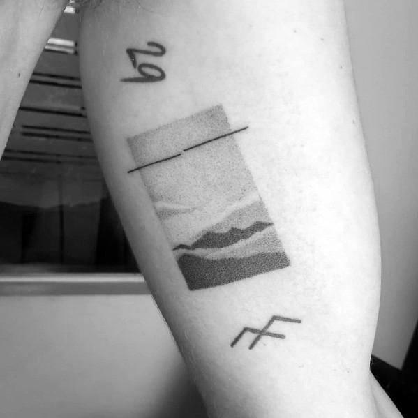 Tattoo Ideas Minimalist Mountain