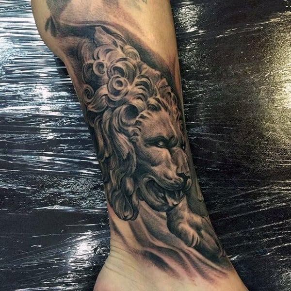 Tattoo Lion Men