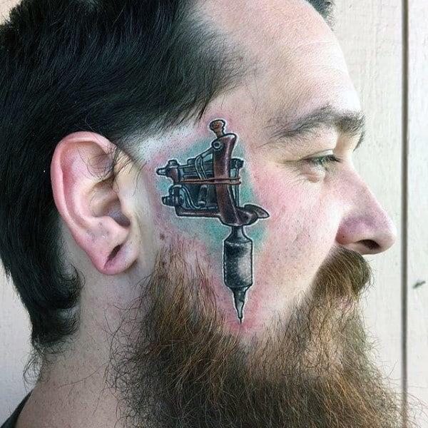 Tattoo Machine Mens Face Tattoo Ideas
