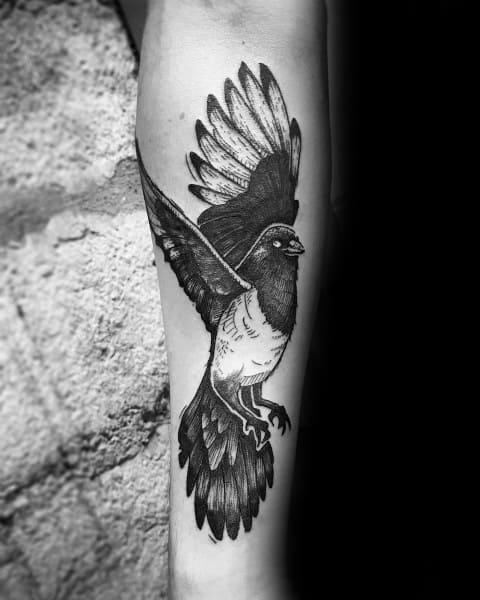 Tattoo Magpie Designs For Men