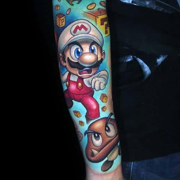 Tattoo Mario Designs For Men