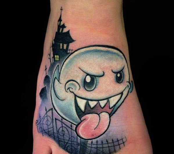 Tattoo Mario Ghost Ideas For Guys