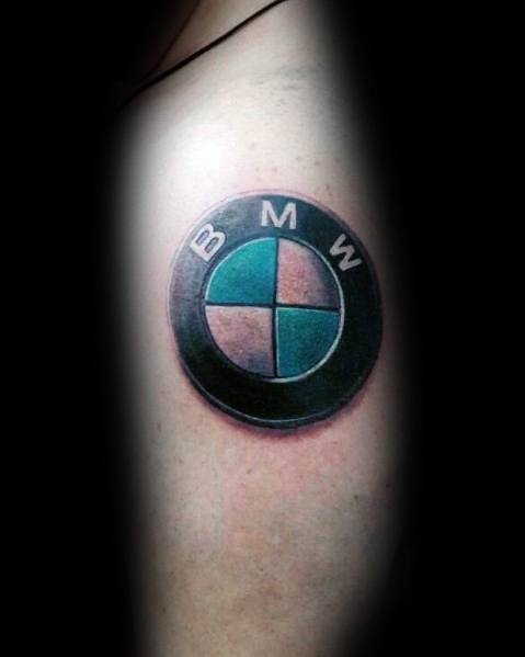 Tattoo Mens Bmw Design 3d Logo