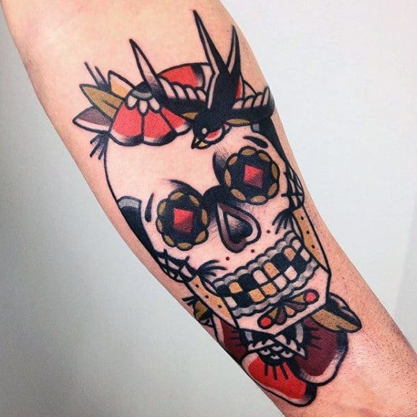 Tattoo Mens Designs Of Sugar Skulls