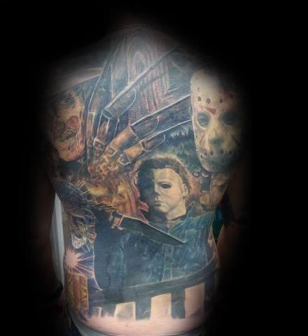 Tattoo Mens Horror Movie Design