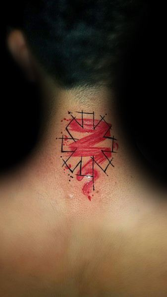 Tattoo Mens Red Hot Chili Peppers Design