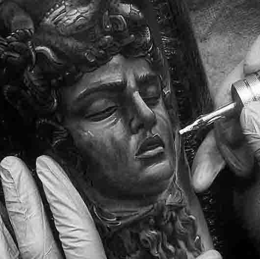 Tattoo Of Medusa With Hair Of Snakes For Men
