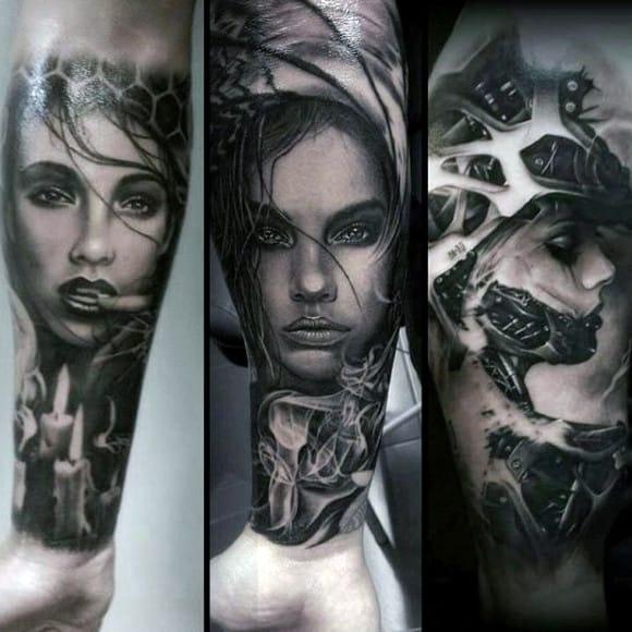 Tattoo Of Smoke On Man