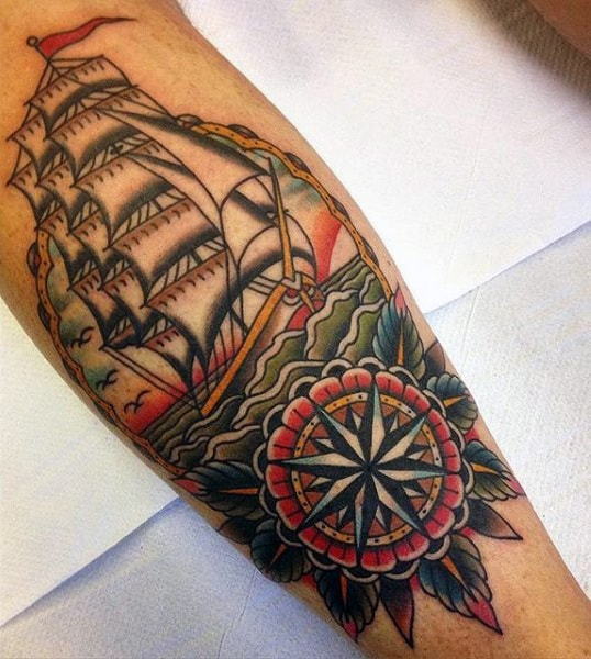 Tattoo On Calf For Men