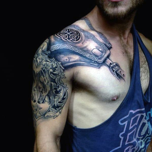 Cool Tattoo On Chest For Men