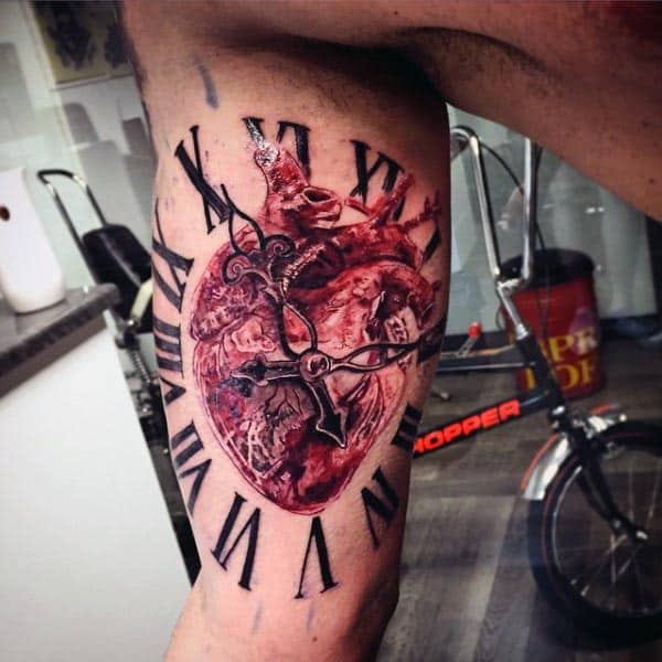 Tattoo On Inside Of Bicep For Men