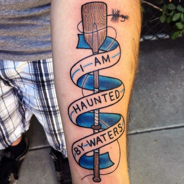 30 paddle tattoo ideas for men rowing designs