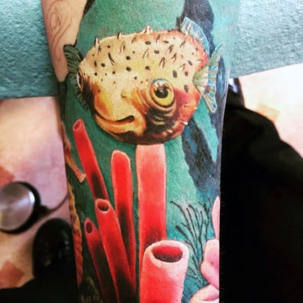 Tattoo Puffer Fish Designs For Men