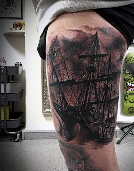 Tattoo Ship For Men