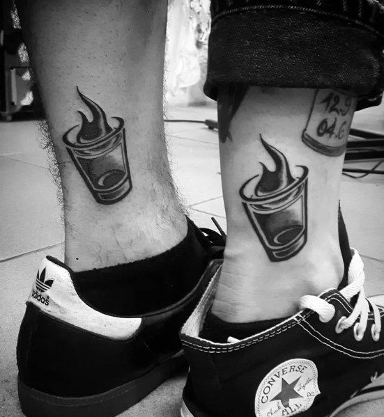 30 Shot Glass Tattoo Ideas For Men Spirits Designs