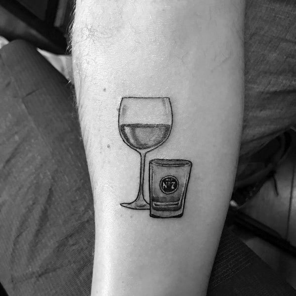 Tattoo Shot Glass Ideas For Guys