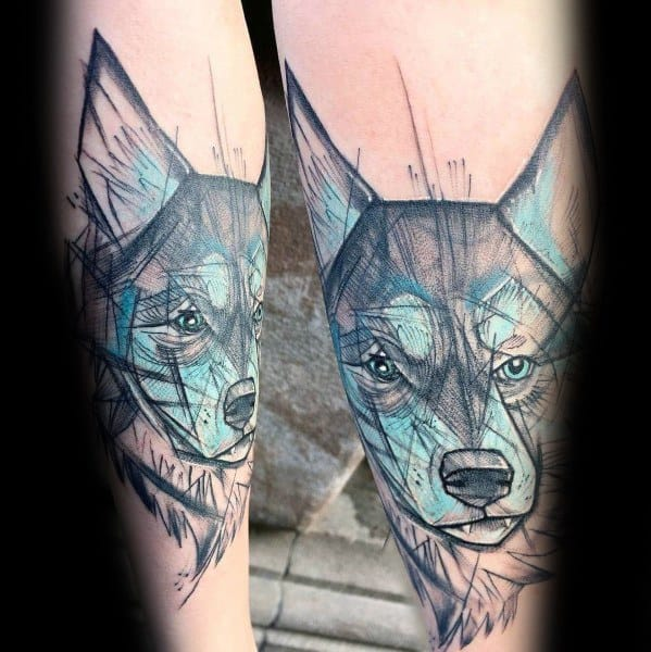 Tattoo Siberian Husky Ideas For Guys