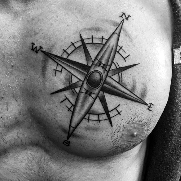 50 simple compass tattoos for men directional design ideas. Black Bedroom Furniture Sets. Home Design Ideas