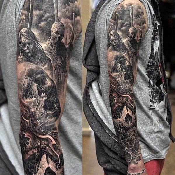 tattoo-sleeve-ideas-for-men-black-and-grey