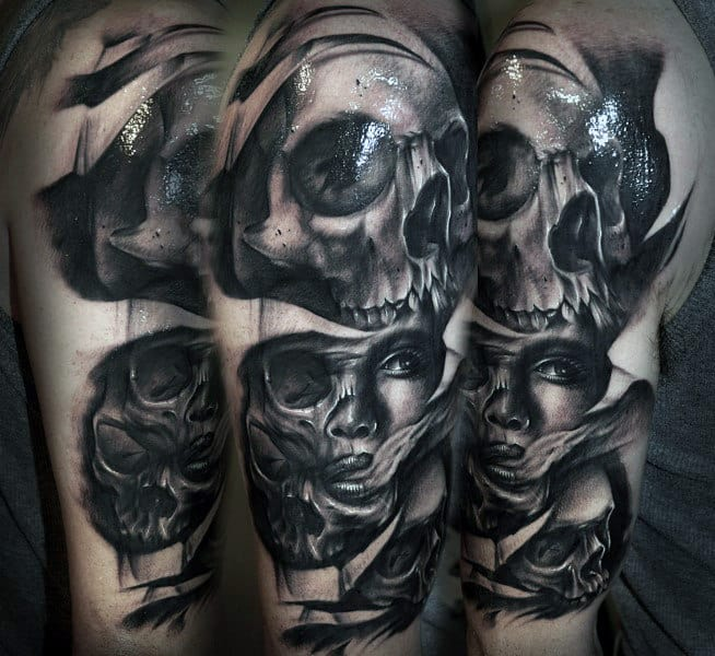 Tattoo Sleeve Skulls Inspiration For Guys