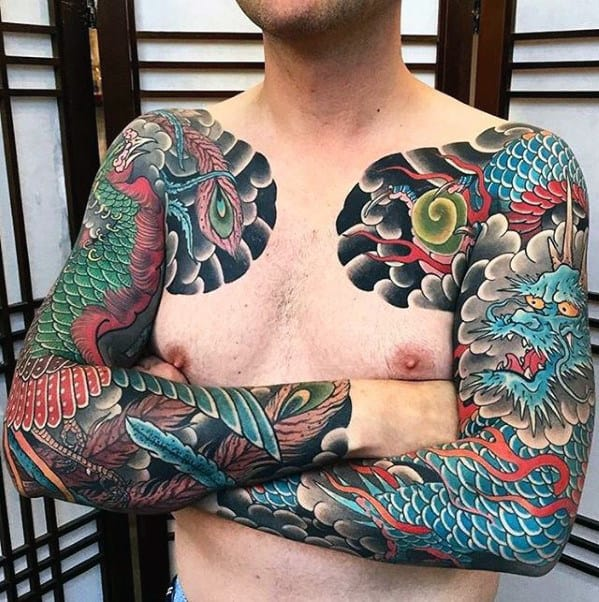 Tattoo Sleeves Phoenix Japanese Design For Guys