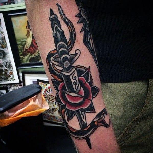 Tattoo Snake Dagger Ideas For Guys