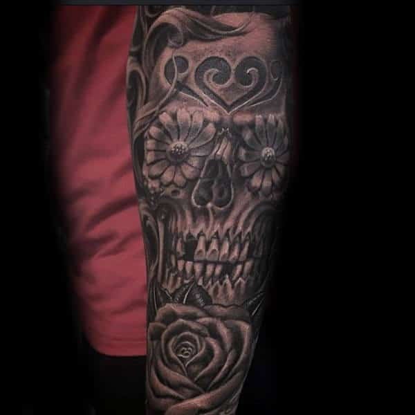 Tattoo Sugar Skulls Male Full Sleeve Inspiration