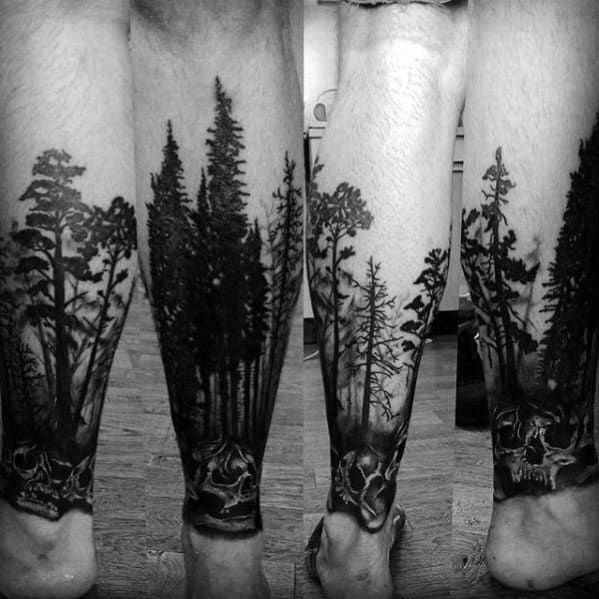 Tattoo Tree Leg Designs For Men