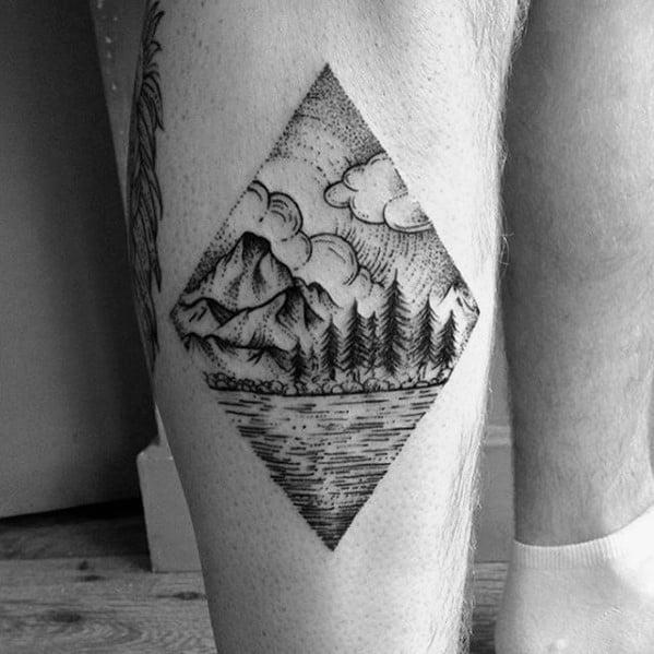 Tattoo Tree Leg Ideas For Guys