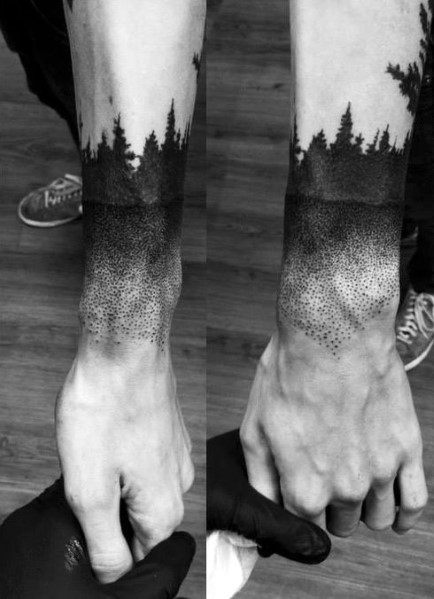 Tattoo Tree Line Designs For Men