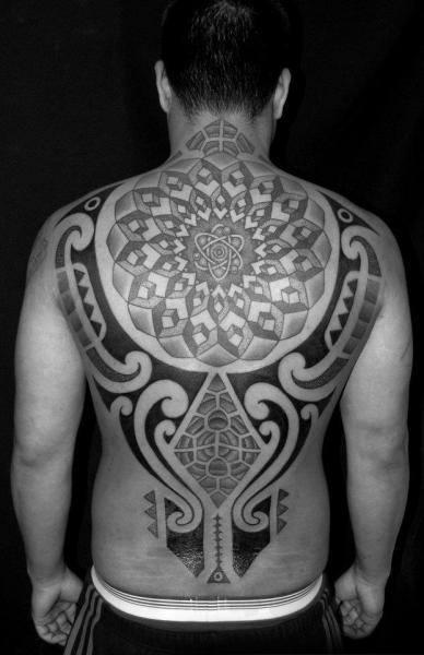 Tattoo Tribal Back Men