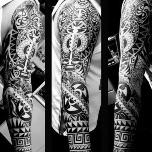 Tattoo Tribal Male Sleeves