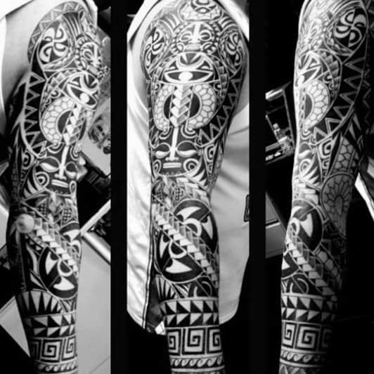 Tattoo Tribal Male Sleeves