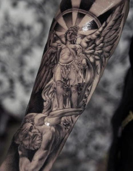 Tattoos Archangel Micheal For Males