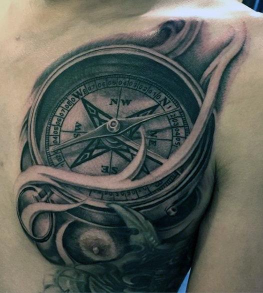 Tattoos Compass For Guys