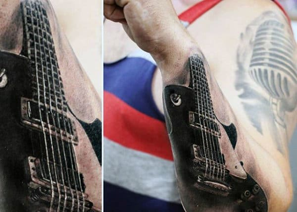 Tattoos For Guitars On Men